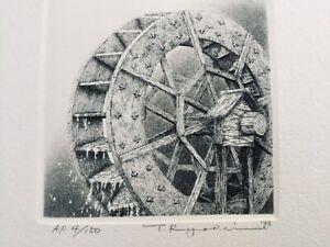 TANAKA RYOHEI Etching - Water Mill No.2 (1993)