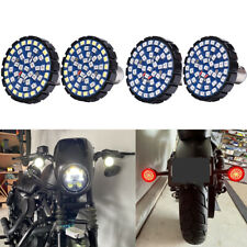 4x For Harley Davidson Motorcycle Front And Rear Led Turn Signals Blinker Lights