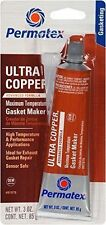 Permatex 81878 Ultra Copper Maximum Temperature RTV Silicone Gasket Maker, 3 oz.