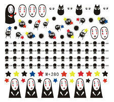 Japanese Anime Spirited Away No Face Man Nail Art Sticker Decals for Halloween
