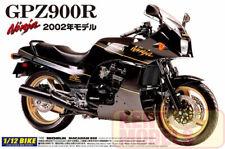 Aoshima 1:12 Scale Plastic Bike Model Kit - KAWASAKI GPZ900R NINJA 2002 - UK-355