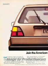 1988 VW Volkswagen Golf - Autobahn - 2-page Advertisement Print Art Car Ad J760