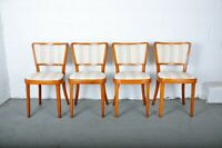 1960s Set of 4 Vintage Michael Thonet Bentwood Dining Chairs