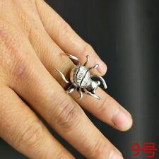 Miao silver spider ring 1piece National wind original personality pure handmade
