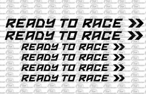Ready to Race KTM Motorrad Auto Aufkleber Set 6 Teilig Sponsoren Farbauswahl