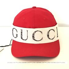 GUCCI Red Baseball Cap With Gucci Headband Size M