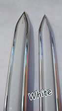 CLASSIC VINTAGE CHROME WHITE BODY SIDE MOLDING TRIM MOULDING DOOR FENDER