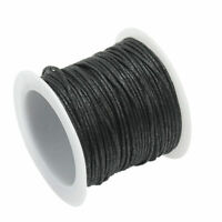 Waxed Cotton Cord Thong Necklace Bracelet Making Crafts 9.5 to 10.25m Black new