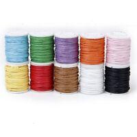 10 Rollos Hilo De Algodon Cuerda Encerado De Mezclamiento Del Color Para Cadena