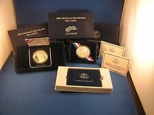 2005 P Chief Justice John M arshall Silver 2 Coin Set Proof & Uncirulated