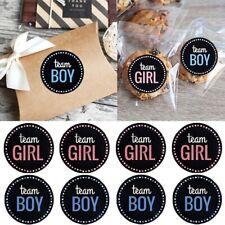Stickers Games Team Boy & Team Girl 24Pc-Gender Reveal, 12 Team Girl/12 Team Boy