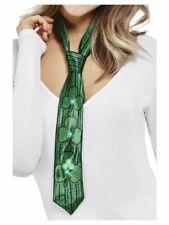 Paddy's Day Light Up Shamrock Tie Adults St Patricks Day Fancy Dress Prop