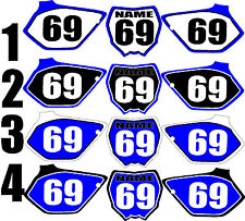 2006-2007 Yamaha YZ125 250 YZ 125 250 Number Plates Side Panels Graphics Decal