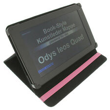 Bag for Odys ieos Quad Book Style Tablet Protective Case Table Stand Pink