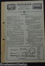 Telefunken Werkstattanleitung  Gavotte 9 - Dacapo 9 1958/59 Service Manual