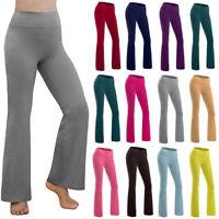 Women Bootcut Yoga Pant Bootleg Flare Workout Casual Wide Leg Loose Trouser US