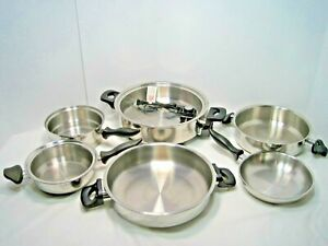 Carico Ultra Tech 6 piece Stainless Cookware Pots Pan - Electric Skillet no lids