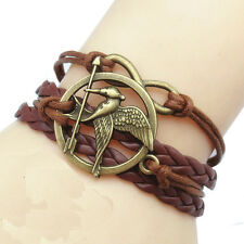 NEW Women's Punk Style Fashion Brown Cute Infinity Charm Bangle Bracelet Jewelry