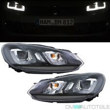 VW Golf 6 VI Scheinwerfer Set 08-12 Leiste Schwarz 3D LED Golf 7 GTI Look U TFL