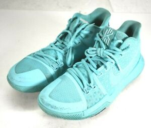 Nike Zoom Kyrie 3 Aqua Blue Mens Size 8 Basketball Shoes 852395 401 Sneakers