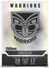 2017 NRL Traders Parallel Special (PS141) WARRIORS Check LIst
