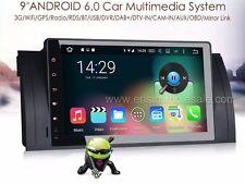 "AUTORADIO 9"" Bmw Serie 5 E39 X5 E53 M5 Android 6.0 Navigatore Gps Comandi 2GB"
