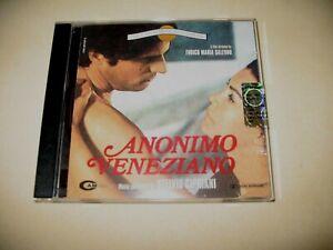 """CD COLONNA SONORA"""" ANONIMO VENEZIANO""""  MUSICHE STELVIO CIPRIANI  MINT"""