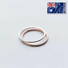 Genuine 925 Sterling Silver Plain Wedding Band Knuckle Midi Ring Mens & Womens