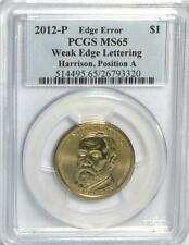 2012-P Harrison Weak Edge Lettering Error PCGS MS65 POS A