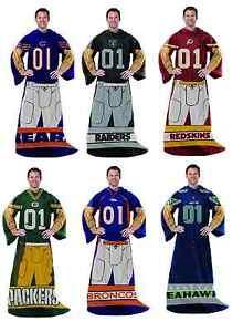 NFL Full Body Player Uniform Comfy Throw Huddler Snuggie