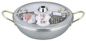 Japanese Stainless Steel Shabu Shabu Nabe Hot Pot 26cm Made in JAPAN DR-4222