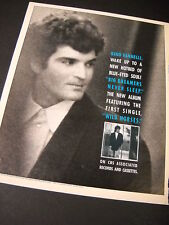 Gino Vannelli 1987 Promo Poster Ad Hotbed Of Blue Eyed Soul