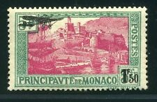 """MONACO STAMP TIMBRE POSTE AERIENNE 1 """" VUE PORT SURCHARGEE 1F50 """" NEUF xx LUXE"""