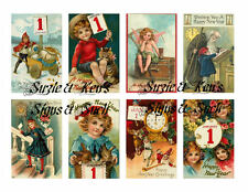 Vintage Postcard Stickers New Years Adorable 16 Total