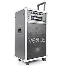 VEXUS DJ PA ANLAGE MOBILES SOUNDSYSTEM AKKU MP3 CD USB EQUALIZER ID3-TAG-ANZEIGE