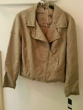 Buffalo by David Bitton size Large motorcycle jacket vegan NEW