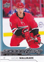 17/18 UD..LUCAS WALLMARK..YOUNG GUNS..# 207..HURRICANES..FREE COMBINED SHIPPING