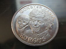 morgus * monster mania skull 1968 Mardi Gras Doubloon Coin new orleans vintage