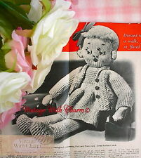 Vintage 50s Doll Knitting Pattern 'Jane' Just £1.99 + FREE UK POSTAGE!