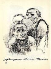 Die Künstlerin Käthe Kollwitz Verbrüderung / Gefangene Histor. Grafik 1930