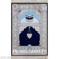 Yilong 3'x4.5' Handmade Silk Rugs Hand Knotted Persian Prayer Carpets Price 0032