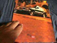 1996 GMC S15 Jimmy SUV Original Brochure Catalog Prospekt