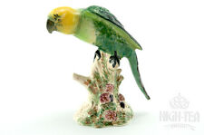 C1950's DARK GREEN WITH LEMON HUED BESWICK PARROT NO 930 IN CABINET CONDITION
