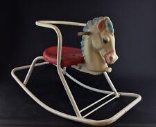 Rare cheval à bascule , jouet ancien, vintage 1950-60 - Old  rocking horse