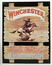 WINCHESTER EXPRESS RIDER - FIREARMS AMMUNITION COLLECTIBLE TIN METAL SIGN 939