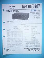 Service Manual-Anleitung für Sony TA-A70/TA-D707 ,ORIGINAL