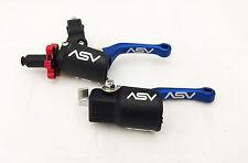 ASV C6 Shorty Blue Pro Pack Unbreakable Folding Brake + Clutch Levers Kit DRZ
