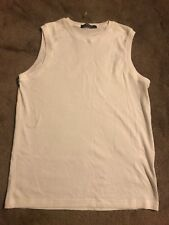 White Topman Vest / Muscle Top - Size S