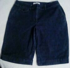 Talbots Petites Womens Blue Stretch Denim Jean Shorts Size 8P (E2)