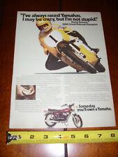 1974 YAMAHA RD350 KENNY ROBERTS - ORIGINAL AD